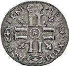 Photo numismatique  ARCHIVES VENTE 2015 -26-28 oct -Coll Jean Teitgen ROYALES FRANCAISES LOUIS XIV (14 mai 1643-1er septembre 1715)  409- Quinzain aux huit L, Aix 1695.