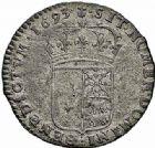 Photo numismatique  ARCHIVES VENTE 2015 -26-28 oct -Coll Jean Teitgen ROYALES FRANCAISES LOUIS XIV (14 mai 1643-1er septembre 1715)  411- Quinzain de Béarn aux huit L, Pau 1693.