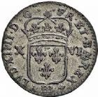 Photo numismatique  ARCHIVES VENTE 2015 -26-28 oct -Coll Jean Teitgen ROYALES FRANCAISES LOUIS XIV (14 mai 1643-1er septembre 1715)  412- Pièce de seize deniers, Strasbourg 1702.