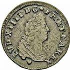 Photo numismatique  ARCHIVES VENTE 2015 -26-28 oct -Coll Jean Teitgen ROYALES FRANCAISES LOUIS XIV (14 mai 1643-1er septembre 1715)  416- Pièce de quatre deniers et pièce de 2 deniers, Strasbourg 1708.