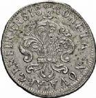Photo numismatique  ARCHIVES VENTE 2015 -26-28 oct -Coll Jean Teitgen ROYALES FRANCAISES LOUIS XIV (14 mai 1643-1er septembre 1715)  423- Pièce de 34 sols aux palmes, 1697.