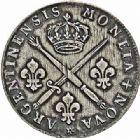Photo numismatique  ARCHIVES VENTE 2015 -26-28 oct -Coll Jean Teitgen ROYALES FRANCAISES LOUIS XIV (14 mai 1643-1er septembre 1715)  425- Pièce de 33 sols aux insignes et aux palmes, Strasbourg 1705.