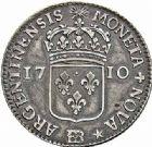 Photo numismatique  ARCHIVES VENTE 2015 -26-28 oct -Coll Jean Teitgen ROYALES FRANCAISES LOUIS XIV (14 mai 1643-1er septembre 1715)  426- Pièce de 44 sols, Strasbourg 1710.