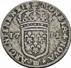 Photo numismatique  ARCHIVES VENTE 2015 -26-28 oct -Coll Jean Teitgen ROYALES FRANCAISES LOUIS XIV (14 mai 1643-1er septembre 1715)  428- Pièces de 22 sols et de 11 sols, Strasbourg 1711.