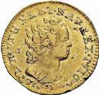 Photo numismatique  ARCHIVES VENTE 2015 -26-28 oct -Coll Jean Teitgen ROYALES FRANCAISES LOUIS XV (1er septembre 1715-10 mai 1774)  431- Louis d'or aux insignes, 2ème type, Paris 1716.