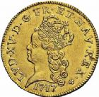Photo numismatique  ARCHIVES VENTE 2015 -26-28 oct -Coll Jean Teitgen ROYALES FRANCAISES LOUIS XV (1er septembre 1715-10 mai 1774)  432- Louis d'or dit «de Noailles», Paris 1717.