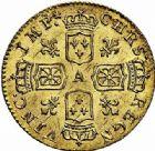 Photo numismatique  ARCHIVES VENTE 2015 -26-28 oct -Coll Jean Teitgen ROYALES FRANCAISES LOUIS XV (1er septembre 1715-10 mai 1774)  433- 1/2 Louis d'or dit «de Noailles», Paris 1717, second semestre.