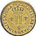 Photo numismatique  ARCHIVES VENTE 2015 -26-28 oct -Coll Jean Teitgen ROYALES FRANCAISES LOUIS XV (1er septembre 1715-10 mai 1774)  435- Louis d'or aux deux L, Paris 1721.