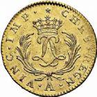 Photo numismatique  ARCHIVES VENTE 2015 -26-28 oct -Coll Jean Teitgen ROYALES FRANCAISES LOUIS XV (1er septembre 1715-10 mai 1774)  437- Double louis d'or dit «Mirliton» aux palmes longues, Paris 1723.