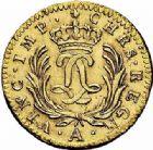 Photo numismatique  ARCHIVES VENTE 2015 -26-28 oct -Coll Jean Teitgen ROYALES FRANCAISES LOUIS XV (1er septembre 1715-10 mai 1774)  440- 1/2 louis d'or dit «Mirliton» aux palmes longues, Paris 1724.