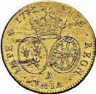 Photo numismatique  ARCHIVES VENTE 2015 -26-28 oct -Coll Jean Teitgen ROYALES FRANCAISES LOUIS XV (1er septembre 1715-10 mai 1774)  445- Double louis d'or à la vieille tête, Paris 1771, 2ème semestre.