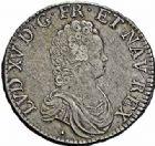 Photo numismatique  ARCHIVES VENTE 2015 -26-28 oct -Coll Jean Teitgen ROYALES FRANCAISES LOUIS XV (1er septembre 1715-10 mai 1774)  447- Écu dit «vertugadin», Aix 1716.