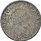 Photo numismatique  ARCHIVES VENTE 2015 -26-28 oct -Coll Jean Teitgen ROYALES FRANCAISES LOUIS XV (1er septembre 1715-10 mai 1774)  448- Écu dit «vertugadin», Paris 1716.