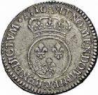 Photo numismatique  ARCHIVES VENTE 2015 -26-28 oct -Coll Jean Teitgen ROYALES FRANCAISES LOUIS XV (1er septembre 1715-10 mai 1774)  449- 1/2 écu dit «vertugadin», Paris 1716.