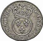 Photo numismatique  ARCHIVES VENTE 2015 -26-28 oct -Coll Jean Teitgen ROYALES FRANCAISES LOUIS XV (1er septembre 1715-10 mai 1774)  450- 1/4 d'écu dit «vertugadin», Grenoble 1716.