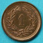 Photo numismatique  MONNAIES MONNAIES DU MONDE SUISSE CONFEDERATION  1 Rappen de 1884.