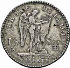 Photo numismatique  ARCHIVES VENTE 2015 -26-28 oct -Coll Jean Teitgen ROYALES FRANCAISES LOUIS XVI (10 mai 1774–21 janvier 1793) Période Constitutionnelle. (1791-1793) 502- 15 sols, Strasbourg 1791, an 3 de la Liberté.