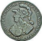 Photo numismatique  ARCHIVES VENTE 2015 -26-28 oct -Coll Jean Teitgen MODERNES FRANÇAISES MONNAIES DE CONFIANCE (1791-1793)  505- Lot de 2 monnaies.