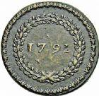Photo numismatique  ARCHIVES VENTE 2015 -26-28 oct -Coll Jean Teitgen MODERNES FRANÇAISES MONNAIES DE CONFIANCE (1791-1793)  506- 3 deniers ou liard, Roanne 1792 an 4, 2ème semestre.