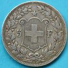 Photo numismatique  MONNAIES MONNAIES DU MONDE SUISSE CONFEDERATION  5 francs de 1889.