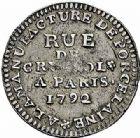 Photo numismatique  ARCHIVES VENTE 2015 -26-28 oct -Coll Jean Teitgen MODERNES FRANÇAISES MONNAIES DE CONFIANCE (1791-1793)  513- 5 sols de Potter.