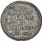 Photo numismatique  ARCHIVES VENTE 2015 -26-28 oct -Coll Jean Teitgen MODERNES FRANÇAISES MONNAIES DE CONFIANCE (1791-1793)  514- 7 sols de Potter.