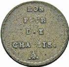 Photo numismatique  ARCHIVES VENTE 2015 -26-28 oct -Coll Jean Teitgen MODERNES FRANÇAISES MONNAIES DE CONFIANCE (1791-1793)  518- Bon pour dix châssis, (1792), essai de monnayage.