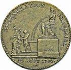 Photo numismatique  ARCHIVES VENTE 2015 -26-28 oct -Coll Jean Teitgen MODERNES FRANÇAISES MONNAIES DE CONFIANCE (1791-1793)  520- Essai de 5 décimes de la Régénération Française, 1793, an 2.
