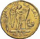 Photo numismatique  ARCHIVES VENTE 2015 -26-28 oct -Coll Jean Teitgen MODERNES FRANÇAISES LA CONVENTION (22 septembre 1792 - 26 octobre 1795)  521- 24 livres, Paris 1793 an II.