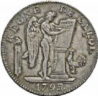 Photo numismatique  ARCHIVES VENTE 2015 -26-28 oct -Coll Jean Teitgen MODERNES FRANÇAISES LA CONVENTION (22 septembre 1792 - 26 octobre 1795)  522- Écu de six livres, Paris 1793 an II, 2ème semestre.
