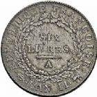 Photo numismatique  ARCHIVES VENTE 2015 -26-28 oct -Coll Jean Teitgen MODERNES FRANÇAISES LA CONVENTION (22 septembre 1792 - 26 octobre 1795)  522- Écu de six livres, Paris 1793 an II, 2ème semestre.