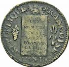 Photo numismatique  ARCHIVES VENTE 2015 -26-28 oct -Coll Jean Teitgen MODERNES FRANÇAISES LA CONVENTION (22 septembre 1792 - 26 octobre 1795)  523- Sol à la balance, Marseille (1794), an II.