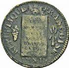 Photo numismatique  ARCHIVES VENTE 2015 -26-28 oct -Coll Jean Teitgen MODERNES FRANÇAISES LA CONVENTION (22 septembre 1792 - 26 octobre 1795)  523- Sol à la balance, Marseille (1794), an II.