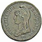 Photo numismatique  ARCHIVES VENTE 2015 -26-28 oct -Coll Jean Teitgen MODERNES FRANÇAISES LE DIRECTOIRE (27 octobre 1795-10 novembre 1799)  526- 2 décimes, Paris an 4.