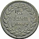 Photo numismatique  ARCHIVES VENTE 2015 -26-28 oct -Coll Jean Teitgen MODERNES FRANÇAISES LE DIRECTOIRE (27 octobre 1795-10 novembre 1799)  527- Lot de 2 monnaies.