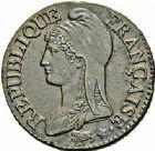 Photo numismatique  ARCHIVES VENTE 2015 -26-28 oct -Coll Jean Teitgen MODERNES FRANÇAISES LE DIRECTOIRE (27 octobre 1795-10 novembre 1799)  529- Décime, Paris an 4.