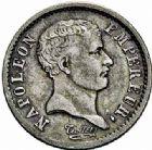 Photo numismatique  ARCHIVES VENTE 2015 -26-28 oct -Coll Jean Teitgen MODERNES FRANÇAISES NAPOLEON Ier, empereur (18 mai 1804- 6 avril 1814)  545- Quart «Tête de nègre», Paris 1807.