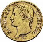 Photo numismatique  ARCHIVES VENTE 2015 -26-28 oct -Coll Jean Teitgen MODERNES FRANÇAISES NAPOLEON Ier, empereur (18 mai 1804- 6 avril 1814)  546- 40 francs or, Paris 1808.
