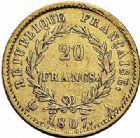 Photo numismatique  ARCHIVES VENTE 2015 -26-28 oct -Coll Jean Teitgen MODERNES FRANÇAISES NAPOLEON Ier, empereur (18 mai 1804- 6 avril 1814)  547- 20 francs or, Paris 1807.