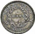 Photo numismatique  ARCHIVES VENTE 2015 -26-28 oct -Coll Jean Teitgen MODERNES FRANÇAISES NAPOLEON Ier, empereur (18 mai 1804- 6 avril 1814)  550- Quart de franc «tête de nègrelaurée», Paris 1807.