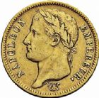 Photo numismatique  ARCHIVES VENTE 2015 -26-28 oct -Coll Jean Teitgen MODERNES FRANÇAISES NAPOLEON Ier, empereur (18 mai 1804- 6 avril 1814)  551- 40 francs or, Paris 1812.