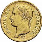 Photo numismatique  ARCHIVES VENTE 2015 -26-28 oct -Coll Jean Teitgen MODERNES FRANÇAISES NAPOLEON Ier, empereur (18 mai 1804- 6 avril 1814)  552- 40 francs or, Paris 1812.
