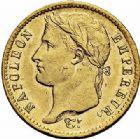 Photo numismatique  ARCHIVES VENTE 2015 -26-28 oct -Coll Jean Teitgen MODERNES FRANÇAISES NAPOLEON Ier, empereur (18 mai 1804- 6 avril 1814)  553- 20 francs or, Paris 1811.