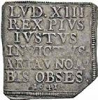 Photo numismatique  ARCHIVES VENTE 2015 -26-28 oct -Coll Jean Teitgen MONNAIES OBSIDIONALES AIRE-SUR-LA-LYS, assiégée par les Espagnols, 1641  615-  Pièce de 10 sols.