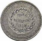 Photo numismatique  ARCHIVES VENTE 2015 -26-28 oct -Coll Jean Teitgen MONNAIES OBSIDIONALES BALÉARES (Iles des). Guerre d'Espagne  622- 5 pesetas 1823 et 4 quartos Barcelone.