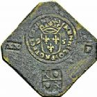 Photo numismatique  ARCHIVES VENTE 2015 -26-28 oct -Coll Jean Teitgen MONNAIES OBSIDIONALES CAMBRAI. Assiégée par les Espagnols, 1595  626- Pièces de 20 patards (2).
