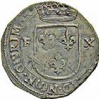 Photo numismatique  ARCHIVES VENTE 2015 -26-28 oct -Coll Jean Teitgen MONNAIES OBSIDIONALES CASALE. Assiégée par les Espagnols, 1630  628- Pièce de 10 florins.