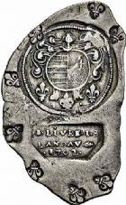 Photo numismatique  ARCHIVES VENTE 2015 -26-28 oct -Coll Jean Teitgen MONNAIES OBSIDIONALES LANDAU. Assiégée par les Impériaux, 1702  638- Pièce de 2 livres 2 sols de production allemande.