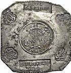 Photo numismatique  ARCHIVES VENTE 2015 -26-28 oct -Coll Jean Teitgen MONNAIES OBSIDIONALES LANDAU. Assiégée par les Français, 1713  639- Pièce de 2 florins 8kreuzers.