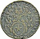 Photo numismatique  ARCHIVES VENTE 2015 -26-28 oct -Coll Jean Teitgen MONNAIES OBSIDIONALES MAASTRICHT. Assiégée par les Espagnols. Émission de juin 1579.   650- Pièce de 16 stuiver.